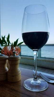 The wine offerings at the C restaurant + bar are amazing - how would you like to savor a glass of red alongside this view?