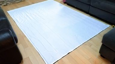 Lay out the sheets for easy and smooth connecting