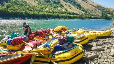 Loading the boats up to start our adventure on the river. © Stuffed Suitcase