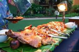 The traditional luau roasted pig