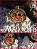 1-pendant,paper look rose