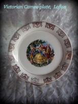 Colonial scene decorative plate