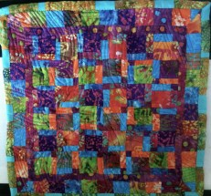 baby/lap quilt top - batic/tree
