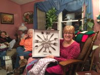 My sister and her new clock