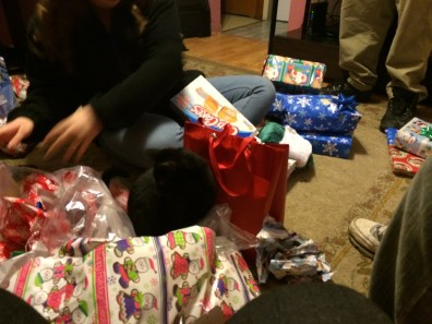 Tootsie looking for her gift
