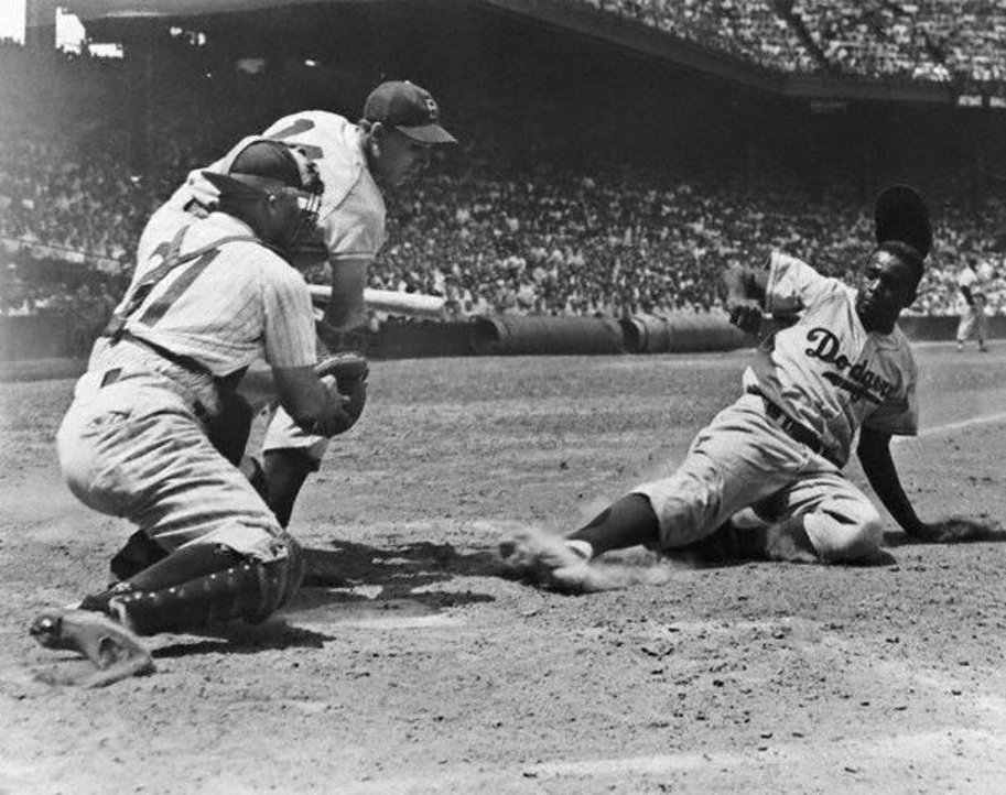 Image result for jackie robinson steals home