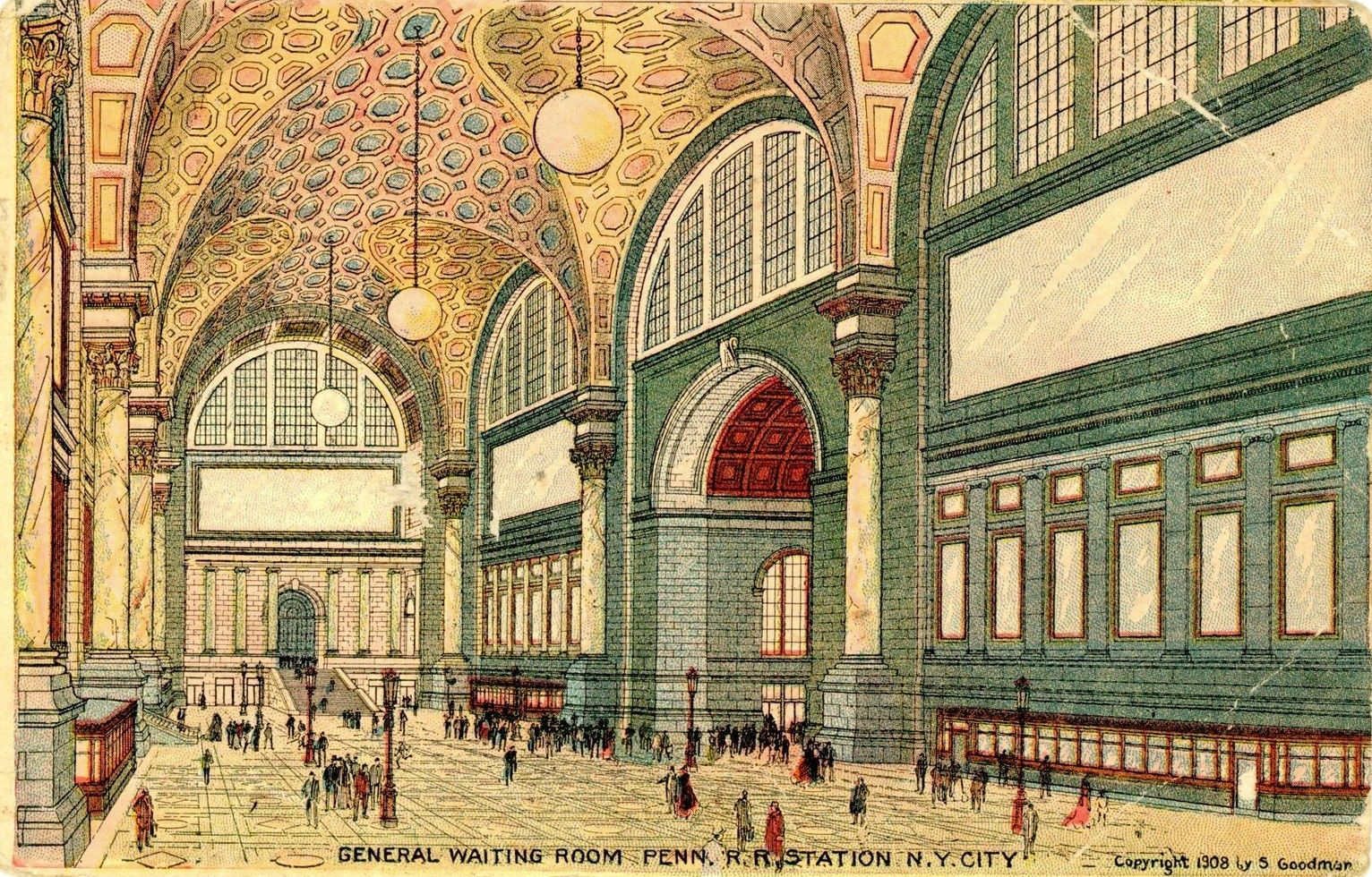 Old New York In Postcards 9 Penn Station Interiors