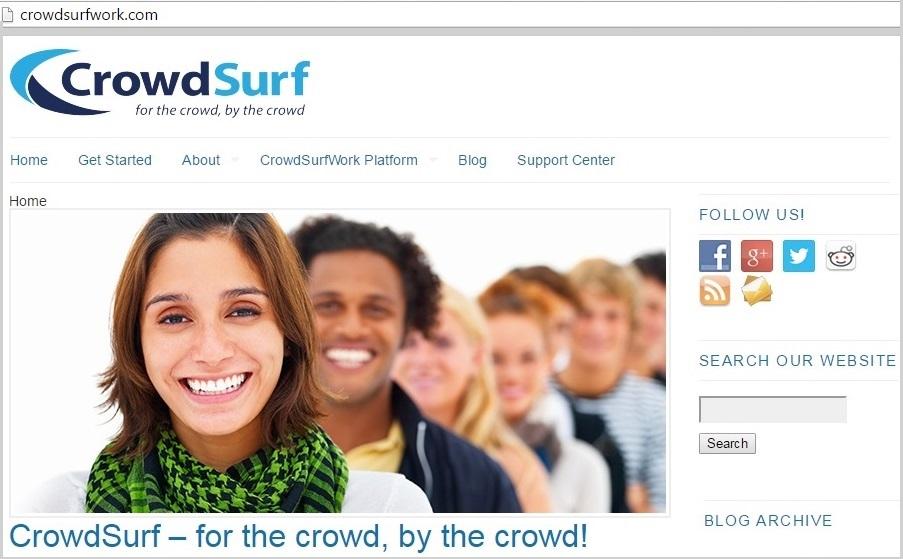 crowdsurfwork online transcription job