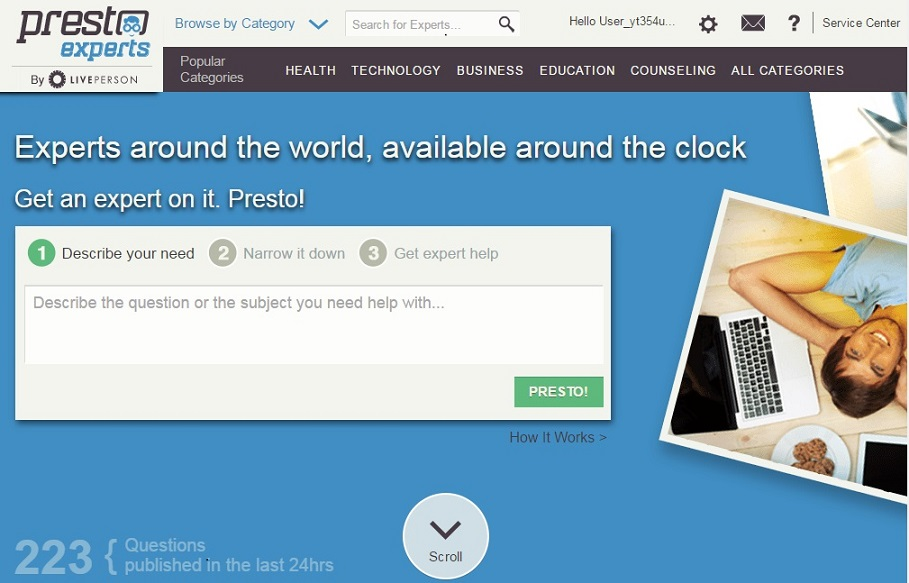 prestoexperts freelancing site for earning