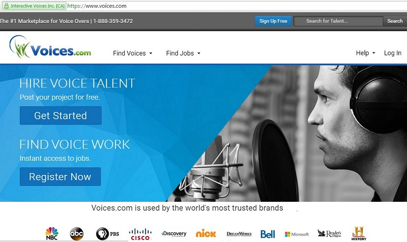 voice.com for voice over job online