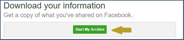 start-archive-facebook-data