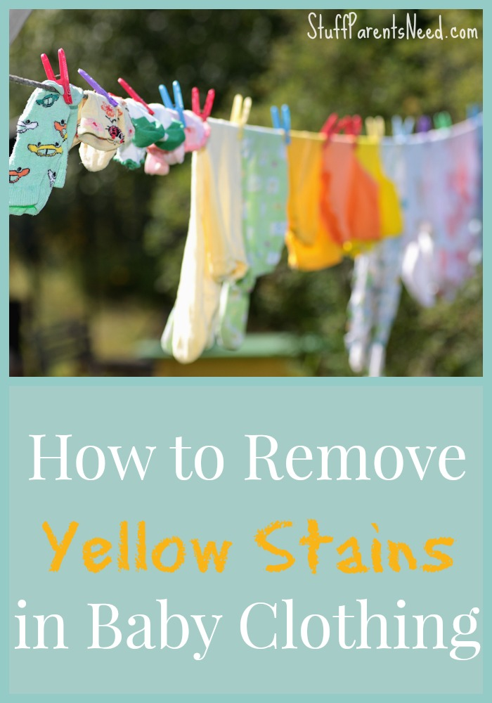 how to remove yellow stains