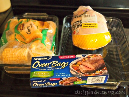 Reynolds Oven Bags meal prep