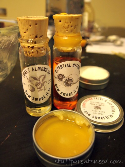 Homegrown collective subscription box lip salve with beeswax and essential oils