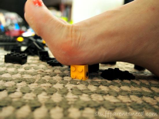stepping on a LEGO. LEGO Storage