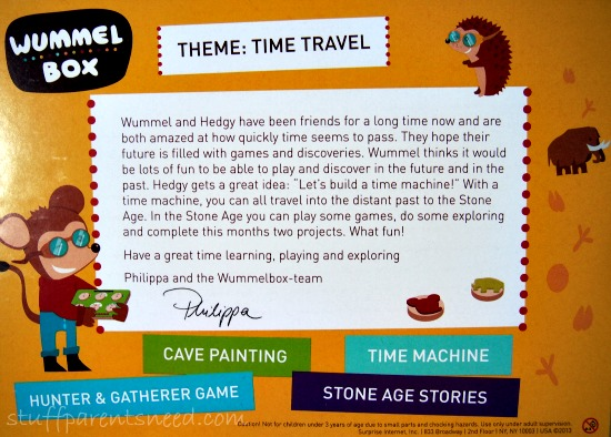 Wummelbox craft subscription time travel theme