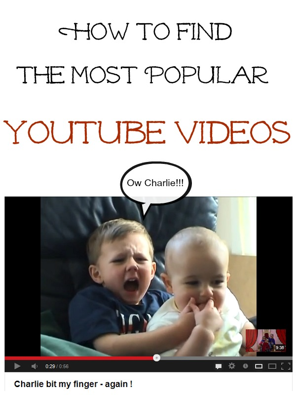 how to find the most popular youtube videos