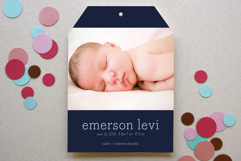 birth announcement from minted