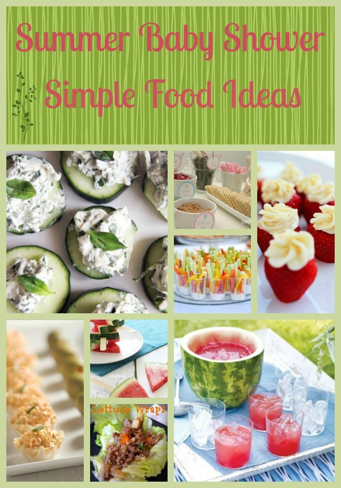 Summer Baby Shower Food Ideas