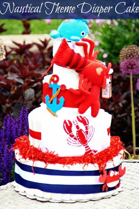 nautical diaper cake, lobster diaper cake, under the sea diaper cake