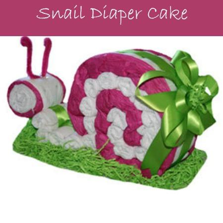 snail diaper cake