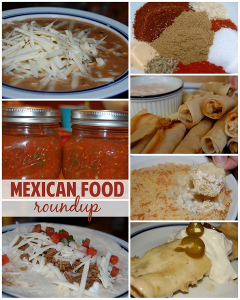 mexican food roundup collage