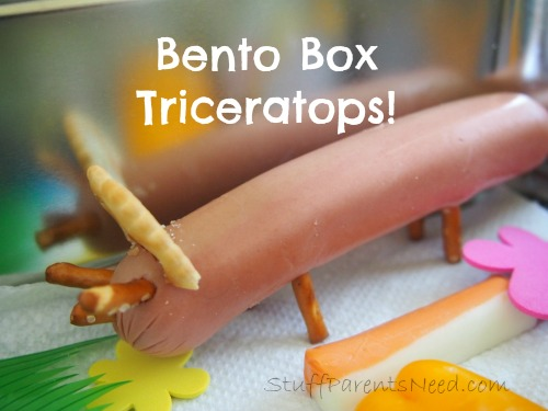 bento box triceratops hot dog