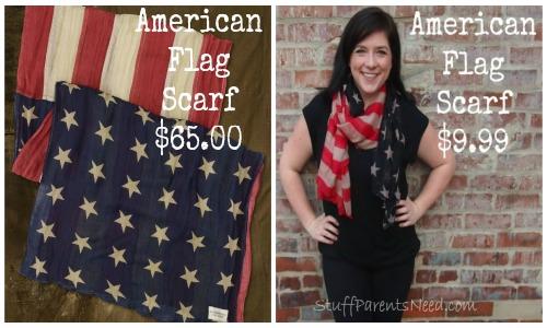 flag scarf, patriotic scarf