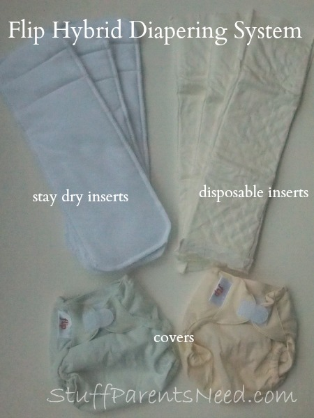 flip hybrid diapering system
