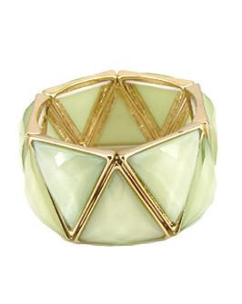geometric stone bracelet