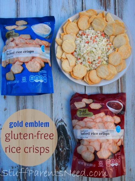 gluten-free snack: gold emblem rice crisps