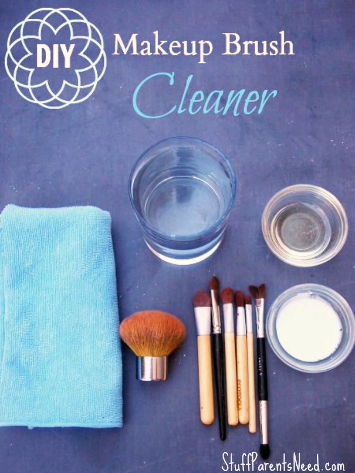 how to clean makeup brushes DIY