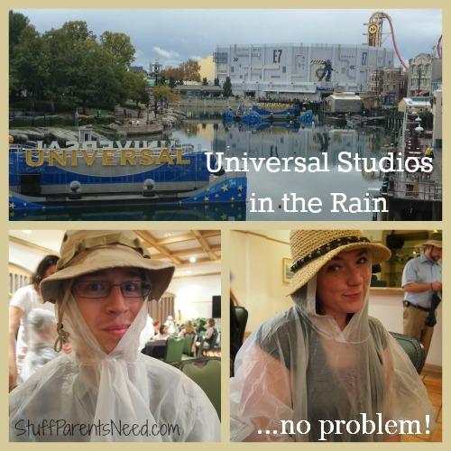 universal studios in the rain