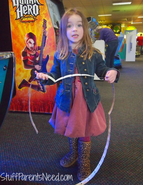 playing at Chuck E. Cheese