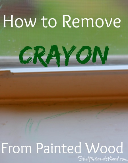 how to remove crayon from painted wood