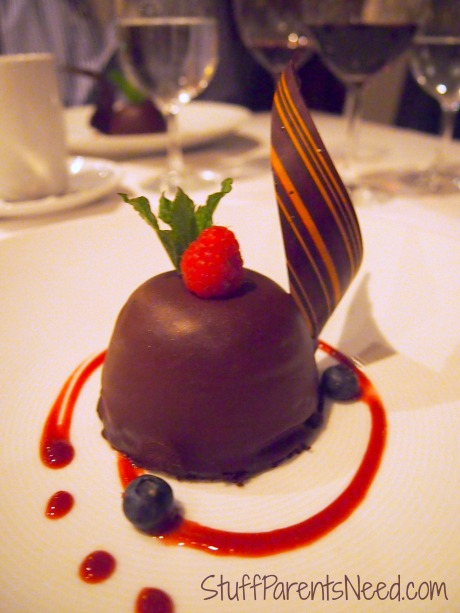 dessert at Portofino's Freedom of the Seas