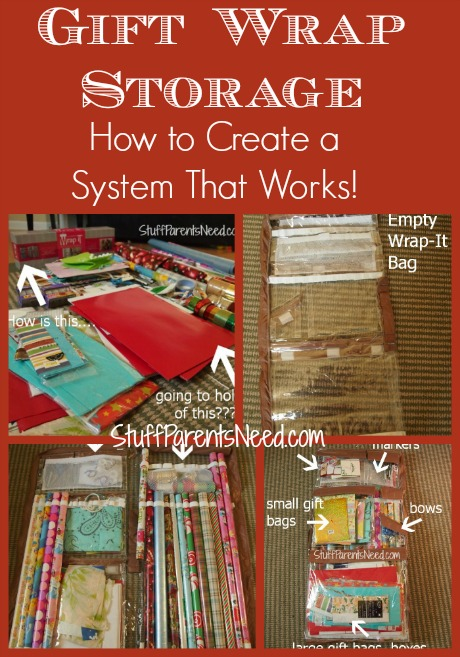 gift wrap storage that actually works