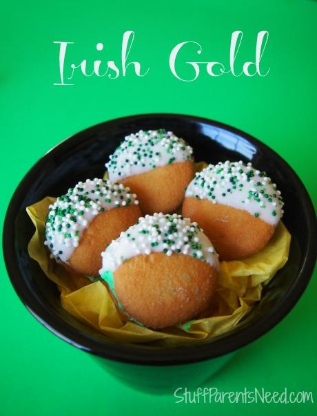 irish gold st. patrick's day cookies in pot