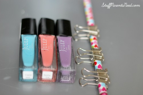 uses for old nail polish painted binder clips