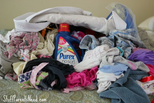 purex stop sorting laundry pile
