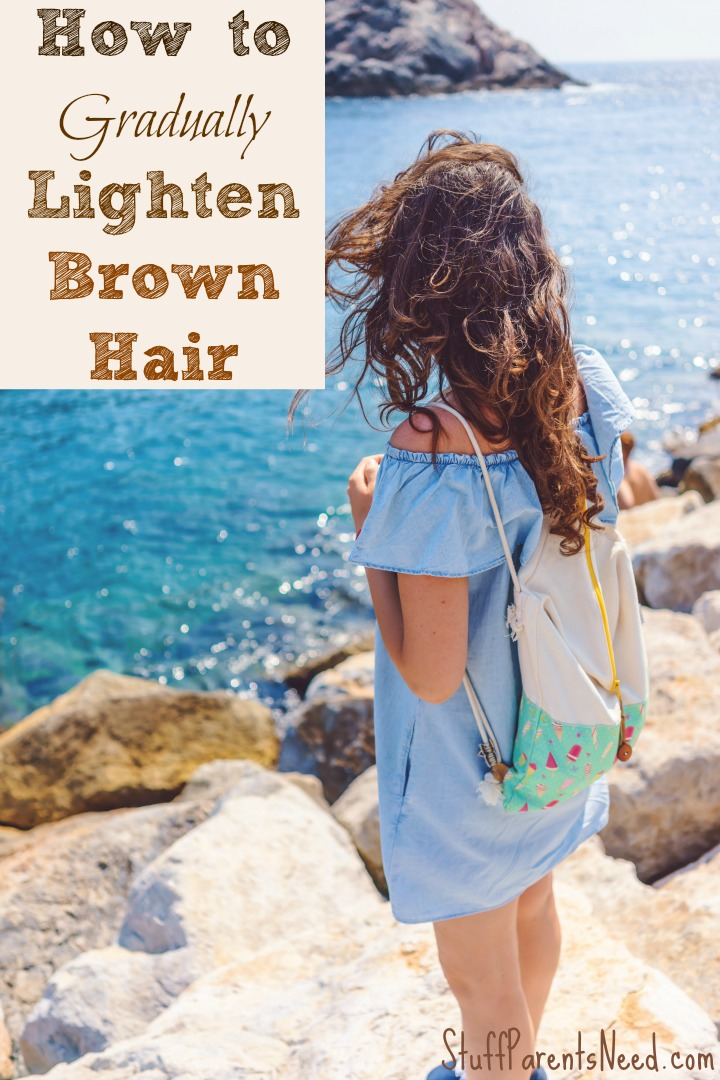 how to gradually lighten brown hair