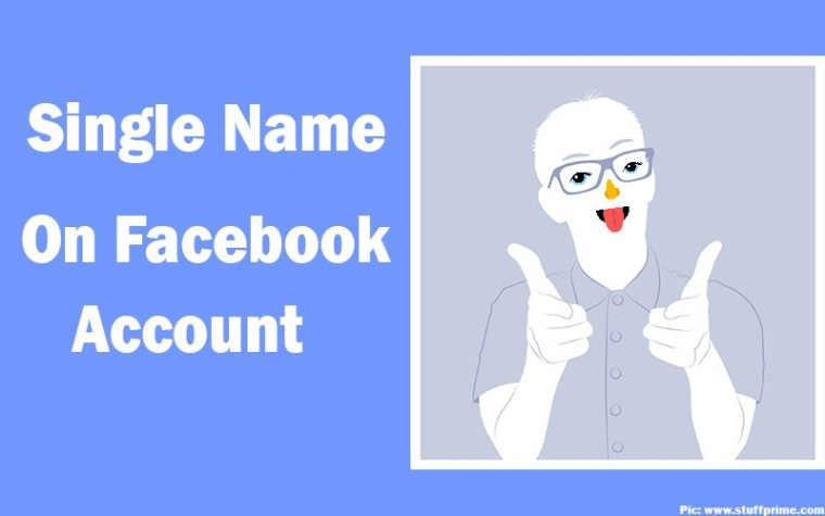 single name on facebook account
