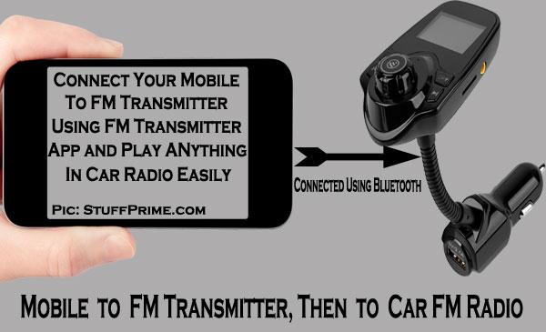 working of fm transmitter app
