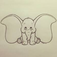baby elephant easy things to draw
