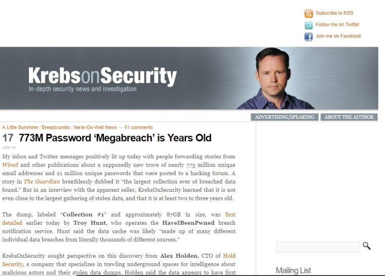 krebs on security blog