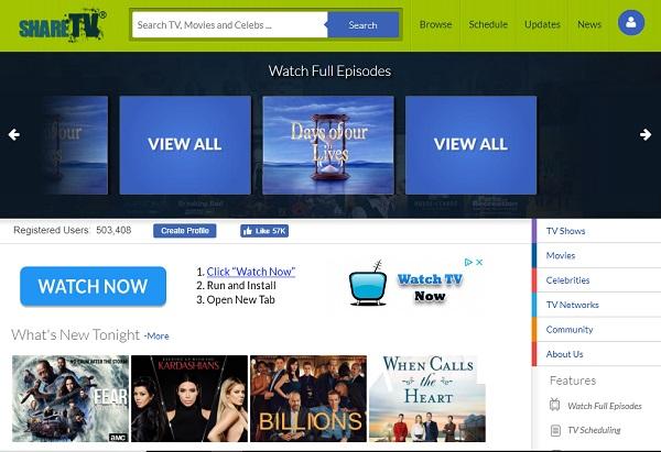 sharetv free tv shows online