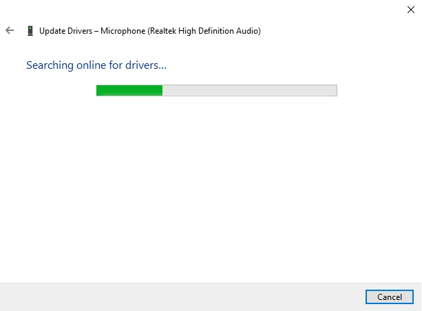 device manager looking for windows 10 updated drivers