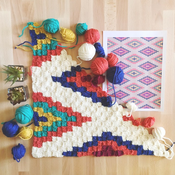 Southwestern Style Crochet Throw