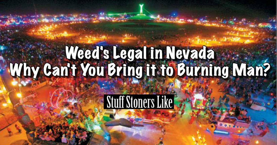 Weed and burning man