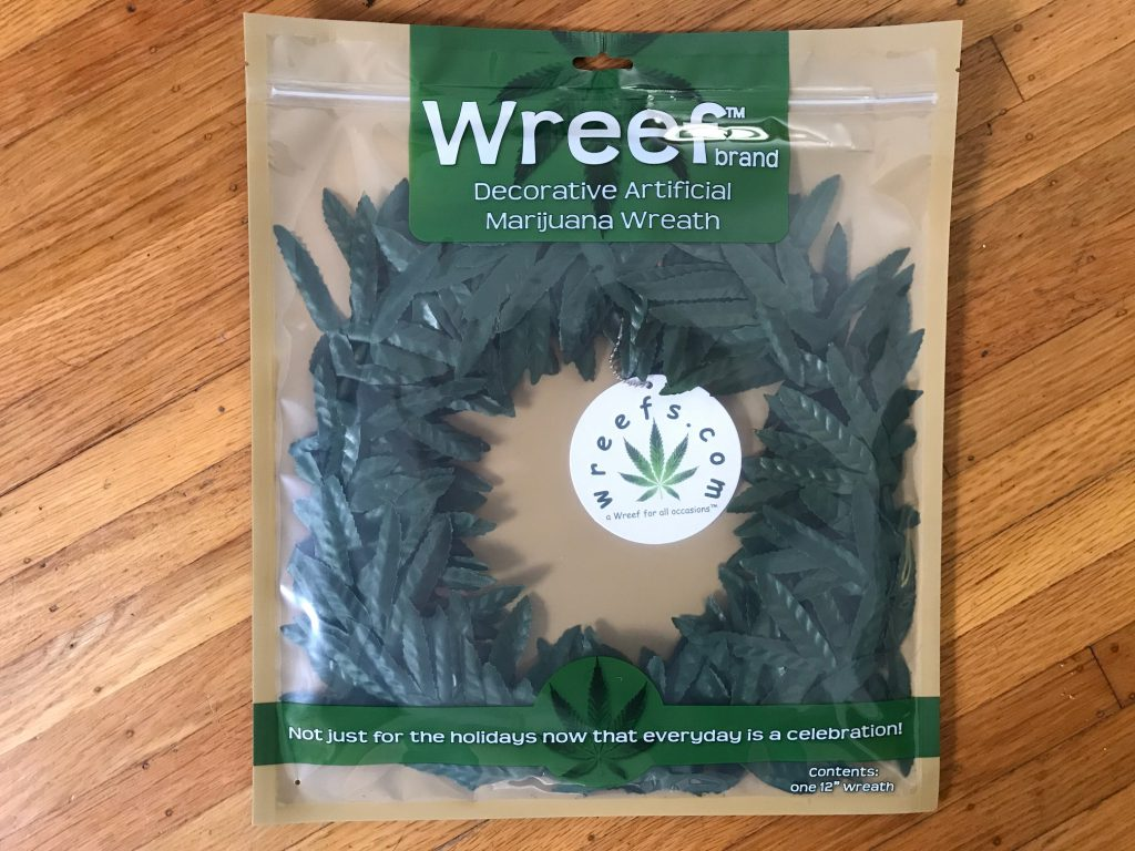 wreefs pot leaf wreath